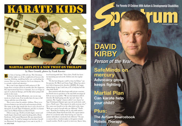 karate martial arts autism therapy